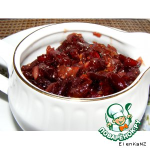 Рецепт: Клюквенный соус № 2