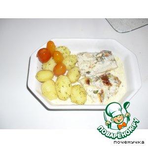 Рецепт: Пангасиус в петрушечно-сливочном соусе