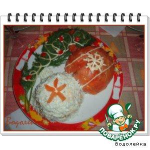 """Рецепт: Салат """"Новогодние шарики"""""""