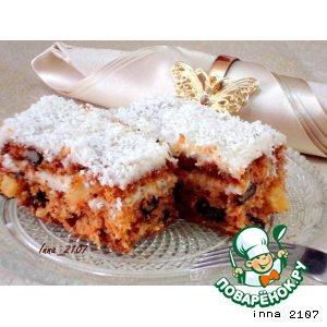 Рецепт: Морковный пирог с кремом