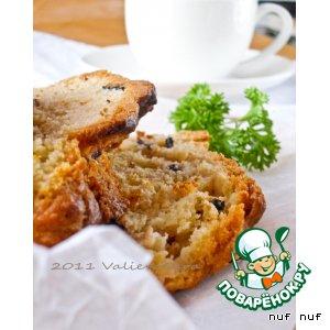 Рецепт: Закусочный кекс с маслинами и копчeной говядиной
