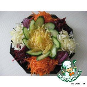 """Рецепт: Салат овощной """"И  талия!"""""""