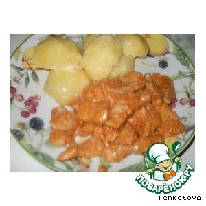 Рецепт: Свинина по-строгановски