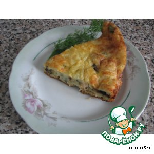 "Рецепт: Заливной пирог ""Жульен"""