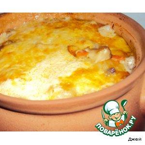 Рецепт: Сытно-сырная картошечка