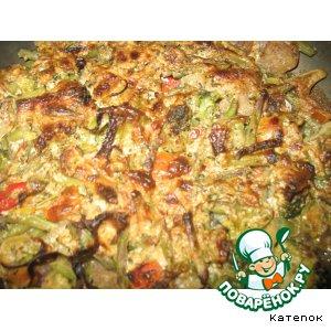 Рецепт: Рыба под овощной шубой