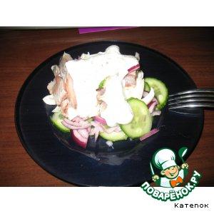 "Рецепт: Салат с сельдью ""Хрустец"""