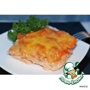 Рецепт: Картофельная запеканка с креветками