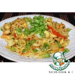 Рецепт: Жареный рис по-тайски Кау Пад