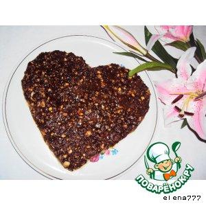 Рецепт: Карамельно-ореховый торт