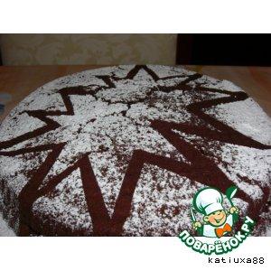 Рецепт: Шоколаднo-грушевый пирог с орехами