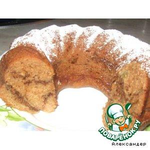 Рецепт: Кекс с яблочным пюре и орехами