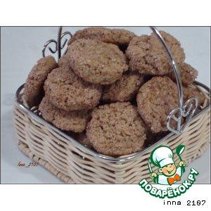 Рецепт: Печенье с гречневой мукой на сметане