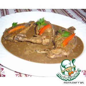 Рецепт: Кролик в шоколаде (Conill amb xocolata)