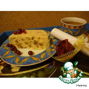 Pudding cottage cheese with nuts for a couple