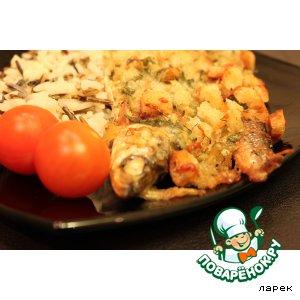 Рецепт: Рыба в сухариках