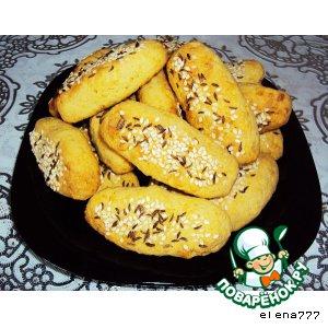Рецепт: Кукурузно-сырное печенье