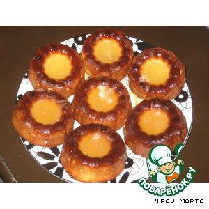 Рецепт: Творожные кексы с лимонной глазурью