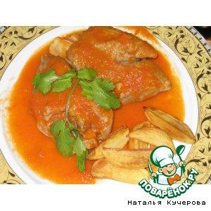 Рецепт: Свиные ножки под томатным соусом