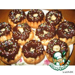 Рецепт: Мини-кексы с изюмом и шоколадом