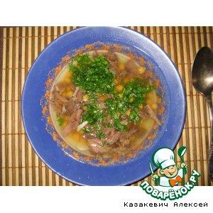Рецепт: Суп из говяжьего хвоста с нутом