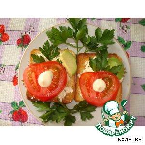 Рецепт: Тосты с овощами