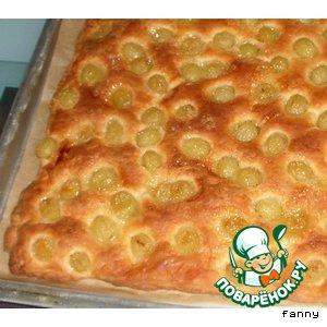Рецепт: Пирог с виноградом