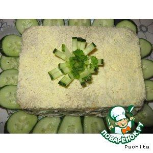 Рецепт: Слоеный салат Кирпичик с курочкой