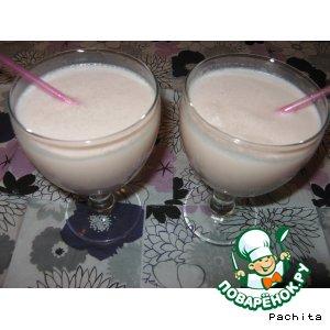 Рецепт: Молочный коктейль Кисельные реки