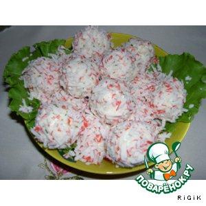 """Рецепт: Сырные шарики """"Рафаэлло"""""""
