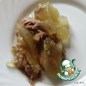 Рецепт: Холодец из шеек индейки
