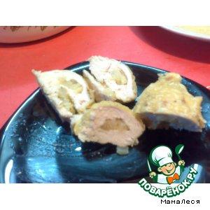 Рецепт: Куринные грудки с ананасом