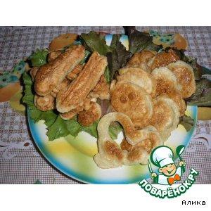 Рецепт: Крабовые палочки и картофель в кляре