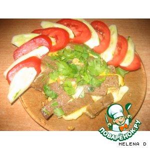 Рецепт: Бородинская закуска для студента