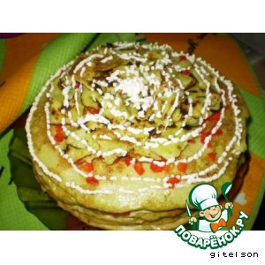 Рецепт: Кабачково-яичный торт