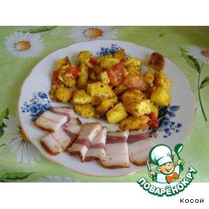 Рецепт Адыгейский сыр с помидорами