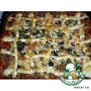 Рецепт: Пицца « Грибная радость»