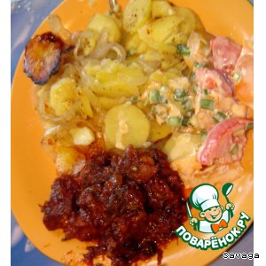 Рецепт: Картофель Ленивый