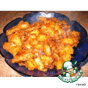 Рецепт: Cвинина в кисло-сладком соусе с ананасами