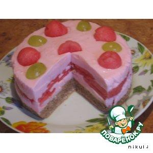 Рецепт: Торт без выпечки Арбузный бриз