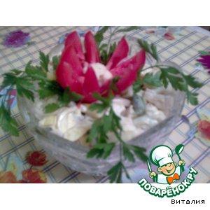 Рецепт: Салатик из цветной капусты и спаржевой фасоли