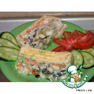 Рецепт: Террин из белой рыбы