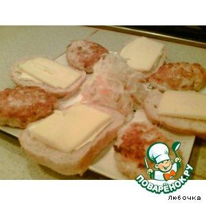 Рецепт: Куриные котлетки с сыром