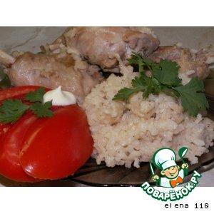 """Рецепт: Курица с рисом """"Двойное удовольствие"""""""