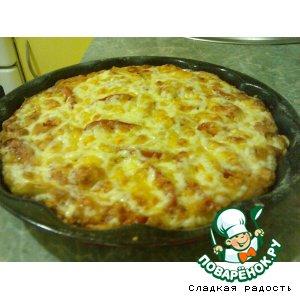 Рецепт: Пицца на скорую руку