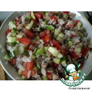 Салат из мяса с овощами