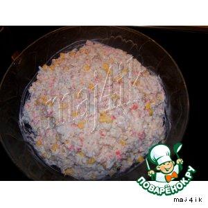 Рецепт: Стандартный салат из крабовых палочек