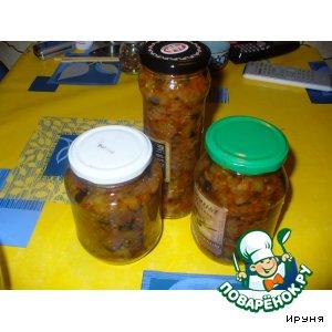 Рецепт: Кабачково-баклажанная икра