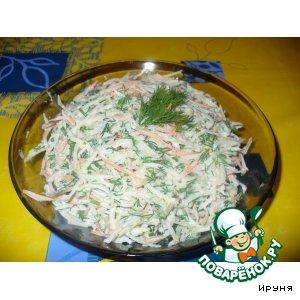 Рецепт: Салат из кольраби