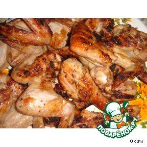 Рецепт: Крылышки и ножки Барбекю